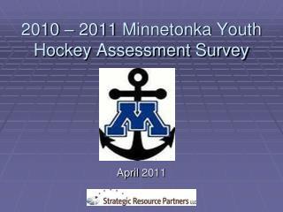 2010  –  2011  Minnetonka Youth Hockey Assessment Survey