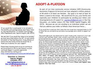 ADOPT-A-PLATOON