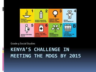 Kenya's challenge in meeting the  mdgs  by 2015