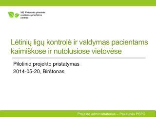 Lėtinių ligų kontrolė ir valdymas pacientams kaimiškose ir nutolusiose vietovėse