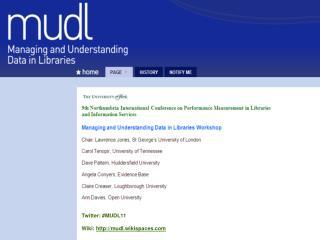 Twitter: #MUDL11 Wiki:  mudl.wikispaces