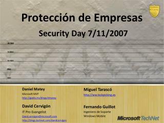 Protección de  Empresas Security  Day  7/11/2007