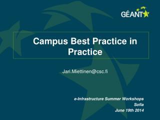 Campus Best Practice in Practice