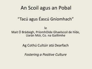 An  Scoil agus  an  Pobal