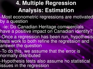 4. Multiple Regression Analysis: Estimation