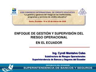 XXIII CONGRESO INTERNACIONAL DE CR DITO EDUCATIVO  La gesti n y gerencia del riesgo en las instituciones,  programas y s