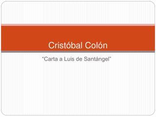 Crist bal Col n
