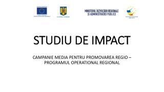STUDIU DE IMPACT