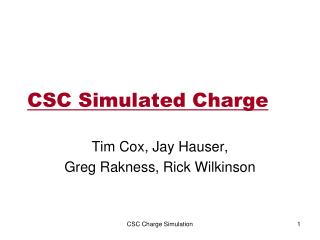 CSC Simulated Charge