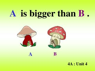A   is bigger than  B  .