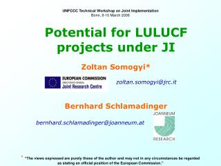 Potential for LULUCF projects under JI