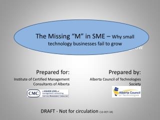 The Missing 'M' in SME –  Why small technology businesses fail to grow