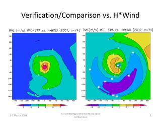 Verification/Comparison vs. H*Wind