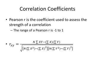 Correlation Coefficients