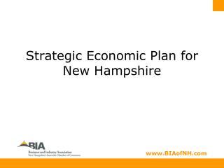 Strategic Economic Plan for New Hampshire