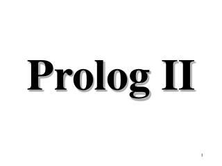 Prolog II