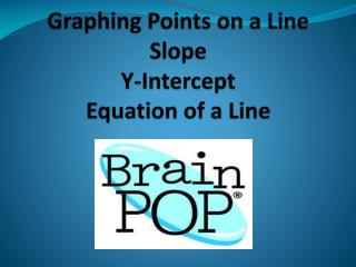 Graphing Points on a Line Slope Y-Intercept Equation of a Line