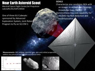 Near Earth Asteroid Scout Marshall Space Flight Center/Jet  Propulsion Lab/ LaRC /JSC/GSFC/NASA