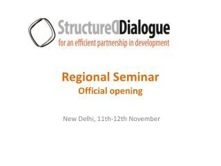 Regional Seminar Official opening