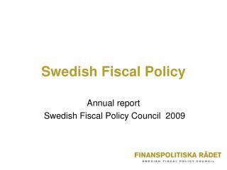 Swedish Fiscal Policy