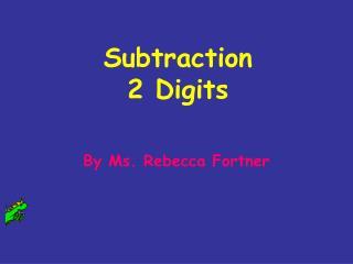 Subtraction 2 Digits