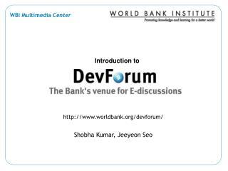 worldbank/devforum/ Shobha Kumar, Jeeyeon Seo