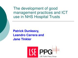 The development of good management practices and ICT use in NHS Hospital Trusts