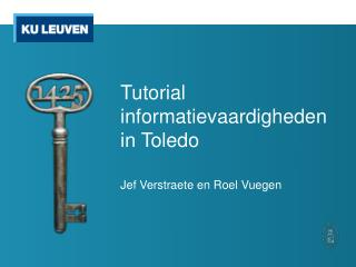 Tutorial informatievaardigheden in Toledo