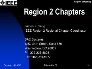 Region 2 Chapters