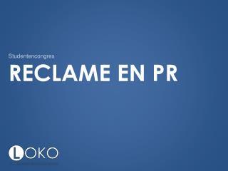 Reclame  en PR