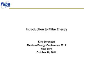 Introduction to Flibe Energy