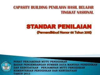 CAPASITY BUILDING PENILAIAN HASIL BELAJAR TINGKAT NASIONAL