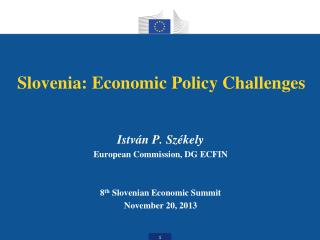 Slovenia:  Economic Policy Challenges