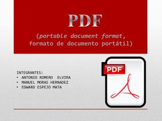 ( portable  document format , formato de documento portátil )