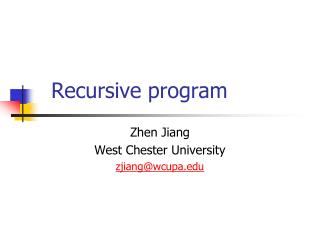 Recursive program