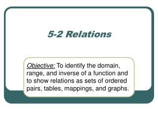 5-2 Relations