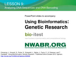 LESSON 9:  Analyzing DNA Sequences and DNA Barcoding