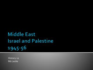 Middle East Israel and Palestine 1945-56