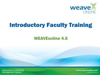 Introductory Faculty Training