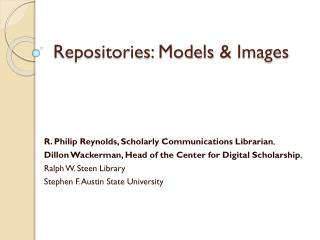 Repositories: Models  &  Images
