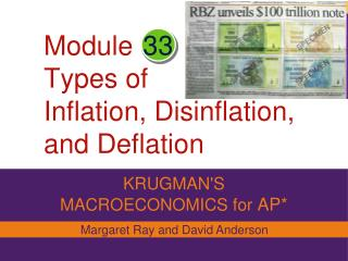 Module Types of Inflation, Disinflation, and Deflation