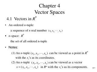 4.1  Vectors in  R n