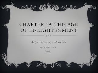Chapter 19: The Age of Enlightenment