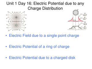 Unit 1 Day 16: Electric Potential due to any Charge Distribution