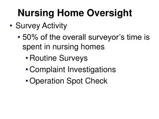 Nursing Home Oversight