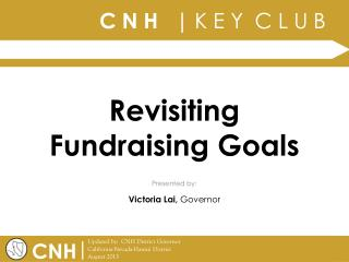 Revisiting Fundraising Goals