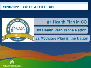 #2 Medicare Plan in the Nation