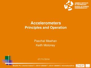 Accelerometers Principles and Operation