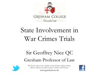 State Involvement in  War Crimes Trials