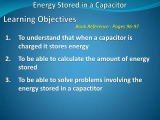 Energy Stored in a Capacitor